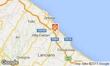Karte San Vito Chietino Appartement 83371