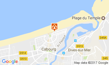 Karte Cabourg Appartement 76183