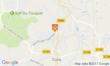 Karte Le Touquet Haus 84445
