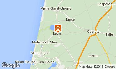 Karte Léon Ferienunterkunft auf dem Land 88255