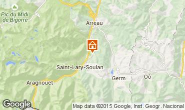 Karte Saint Lary Soulan Ferienunterkunft auf dem Land 65220