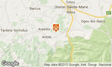 Karte Arette La Pierre Saint Martin Ferienunterkunft auf dem Land 52049