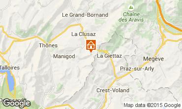 Karte Manigod-Croix Fry/L'étale-Merdassier Appartement 66288