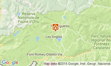 Karte Les Angles Chalet 106862