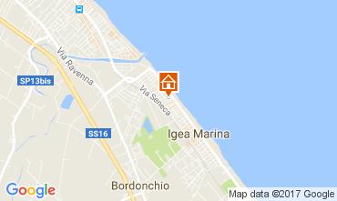 Karte Bellaria Igea Marina Appartement 107982