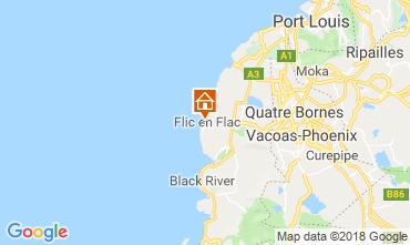 Karte Flic-en-Flac Villa 11562