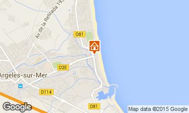 Karte Argeles sur Mer Studio 9792