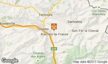 Karte Les Carroz d'Araches Ferienunterkunft auf dem Land 634