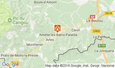 Karte Amélie-Les-Bains Studio 79307