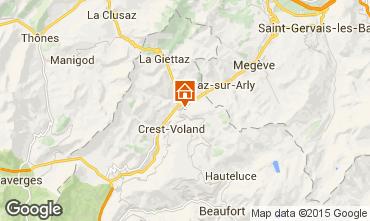 Karte Flumet Val d'Arly Appartement 80441