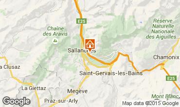 Karte Sallanches Appartement 4911