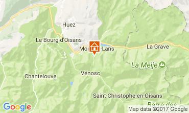 Karte Les 2 Alpes Studio 100442