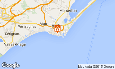 Karte Cap d'Agde Mobil-Home 101319