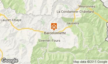 Karte Barcelonnette Appartement 2312