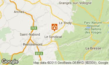 Karte Gérardmer Ferienunterkunft auf dem Land 89894