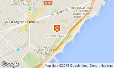 Karte Barcelona Appartement 88882