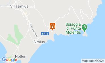 Karte Villasimius Villa 108476