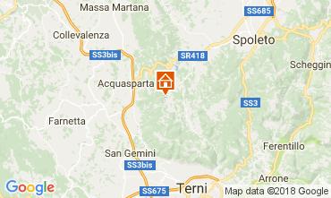 Karte Spoleto Appartement 102668