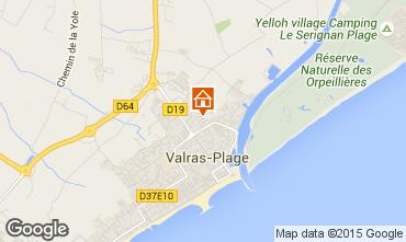 Karte Valras-Plage Mobil-Home 97612