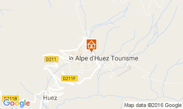 Karte Alpe d'Huez Studio 15933