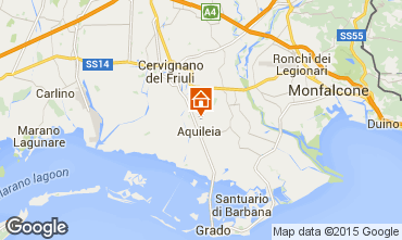Karte Aquileja Appartement 26155