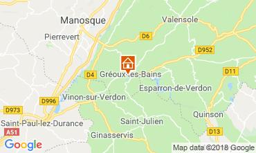 Karte Gréoux Les Bains Villa 117404