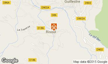 Karte Risoul 1850 Appartement 17386