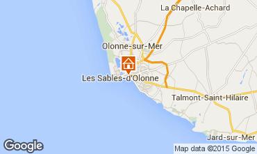 Karte Les  Sables d'Olonne Appartement 59909