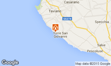 Karte Ugento - Torre San Giovanni Villa 79989