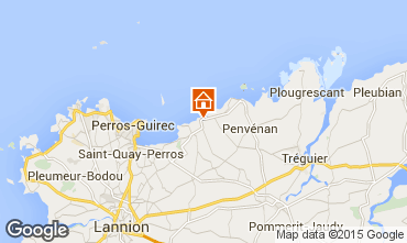Karte Perros-Guirec Appartement 100419