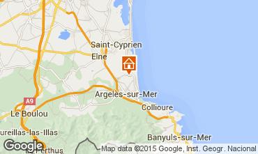 Karte Argeles sur Mer Mobil-Home 102079