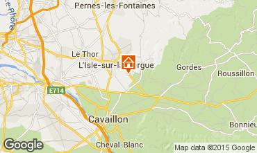 Karte Isle sur la Sorgue Ferienunterkunft auf dem Land 61578