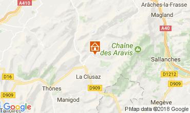 Karte Le Grand Bornand Appartement 112885