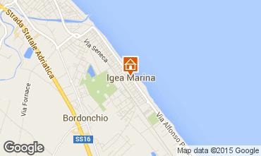 Karte Bellaria Igea Marina Appartement 80890