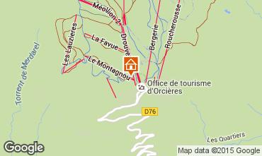 Karte Orcières Merlette Appartement 29009