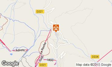 Karte La Plagne Chalet 2163