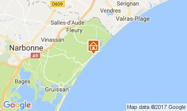 Karte Saint Pierre la Mer Villa 112420