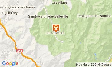 Karte Les Menuires Studio 39459