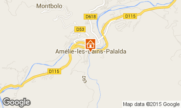 Karte Amélie-Les-Bains Studio 80375