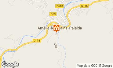 Karte Amélie-Les-Bains Studio 74418