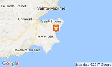 Karte Saint Tropez Mobil-Home 107754