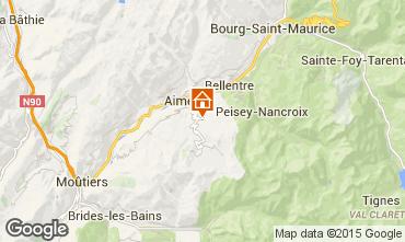 Karte Les Arcs Ferienunterkunft auf dem Land 100022