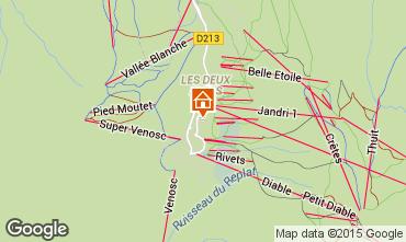 Karte Les 2 Alpes Studio 58369