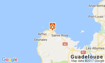 Karte Deshaies Ferienunterkunft auf dem Land 95999