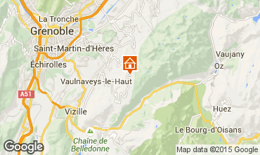 Karte Chamrousse Appartement 66338