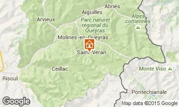 Karte Molines Saint-V�ran Chalet 1575