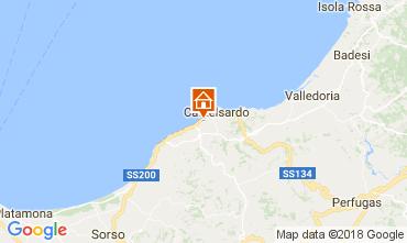 Karte Castelsardo Appartement 83489