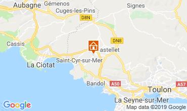 Karte La Cadière d'Azur Haus 96924