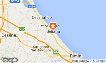 Karte Bellaria Igea Marina Appartement 69763