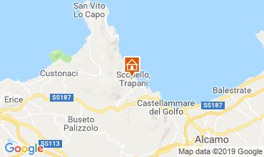 Karte Scopello Appartement 111022